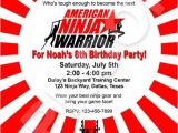 American Ninja Warrior Birthday Invitations Paper Perfection American Ninja Warrior Invitation
