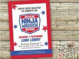American Ninja Warrior Birthday Party Invitations American Ninja Warrior Birthday Invitation Custom Printable
