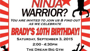 American Ninja Warrior Birthday Party Invitations American Ninja Warrior Birthday Invitation