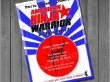 American Ninja Warrior Birthday Party Invitations American Ninja Warrior Birthday Party Invitations by