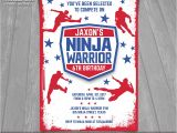American Ninja Warrior Birthday Party Invitations American Ninja Warrior Invitation Ninja Warrior Invite
