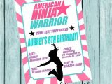 American Ninja Warrior Birthday Party Invitations American Ninja Warrior Printable Invitation by