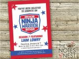 American Ninja Warrior Party Invitations American Ninja Warrior Birthday Invitation Custom Printable