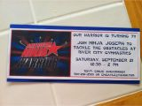 American Ninja Warrior Party Invitations American Ninja Warrior Birthday Party