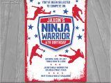 American Ninja Warrior Party Invitations American Ninja Warrior Invitation Ninja Warrior Invite