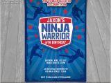 American Ninja Warrior Party Invitations Ninja Warrior Invitation American Ninja Warrior Invite