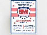 American Ninja Warrior Party Invitations Printable American Ninja Warrior Invitation Ninja Warrior