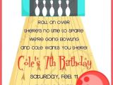 Amf Bowling Party Invitations Amf Bowling Birthday Invitations Red and Blue Invitation 1