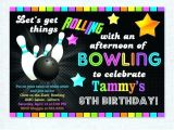 Amf Bowling Party Invitations Bowling Birthday Party Invitations Articleblog Info