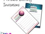 Amf Bowling Party Invitations Bowling Birthday Party Invitations