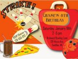 Amf Bowling Party Invitations Bowling Invitation Bowling Birthday Invitation Kids