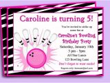 Amf Bowling Party Invitations Bowling Invitation Girls Bowling Birthday Party