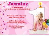 An Invitation Card for A Birthday Party 1st Birthday Invitations Girl Free Template Baby Girl S