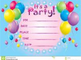 An Invitation Card for A Birthday Party Birthday Invitation Cards