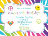 An Invitation Card for A Birthday Party Birthday Party Invitations