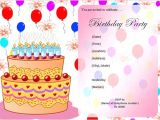 An Invitation Card for A Birthday Party Free Birthday Party Invitation Templates