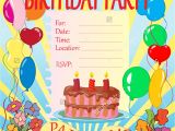 An Invitation Card for A Birthday Party top 19 Invitation Cards for Birthday Party