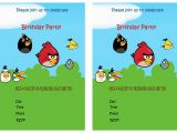 Angry Birds Birthday Party Invitation Template Free 6 Best Of Angry Birds Printable Invitations Free