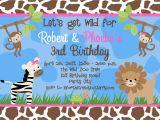 Animal Print Birthday Party Invitations Free Birthday Party Invitation Templates Free Invitation