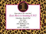 Animal Print Birthday Party Invitations Leopard Print 1st Birthday Invitation Cheetah by