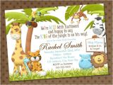 Animal themed Birthday Party Invitation Wording Baby Shower Invitations Free Printable Safari theme Baby