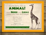 Animal themed Birthday Party Invitation Wording Safari Party Birthday Invitation Zoo theme Wild Animal by