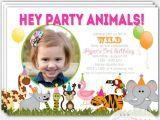 Animal themed Birthday Party Invitation Wording Zoo Birthday Party Invitation Safari Invitation Jungle
