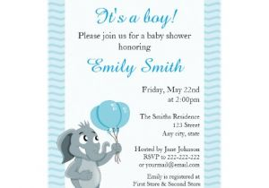 Animated Baby Shower Invitations Elephant Cartoon Baby Shower Invites
