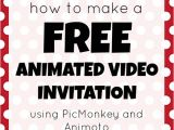Animated Party Invitations How to Make A Free Animated Video Invitation Mad In Crafts