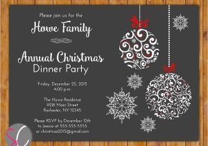 Annual Holiday Party Invitation Template Annual Christmas Dinner Party Invite Celebration Holiday