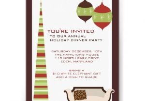 Annual Holiday Party Invitation Template Annual Holiday Dinner Party Invitations 5 Quot X 7 Quot Invitation