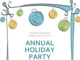 Annual Holiday Party Invitation Template Annual Holiday Party Invitation with Green theme