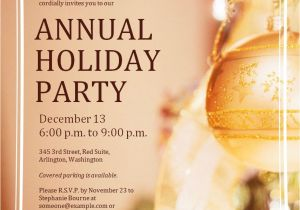 Annual Holiday Party Invitation Template Free Corporate Holiday Party Invitations