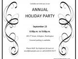 Annual Holiday Party Invitation Template Invitation Templates Archives Word Templates Word