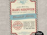 Antique Airplane Baby Shower Invitations Old Vintage Airplane Baby Shower Invitation by