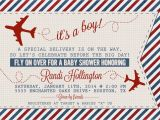Antique Airplane Baby Shower Invitations Vintage Airplane or Aviation Baby Shower Invitation