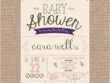 Antique Baby Shower Invitations Printable Vintage Shabby Chic Baby Shower Invitation