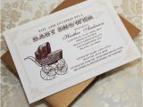 Antique Baby Shower Invitations Vintage Baby Shower Invitations Template