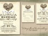 Antique Wedding Invitation Ideas Read More Vintage Floral Love Heart Wedding Invitation
