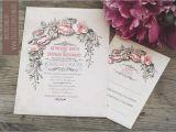 Antique Wedding Invitation Ideas Vintage Wedding Invitation with Floral Wreath Need