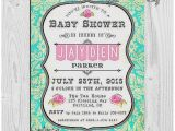 Aqua and Pink Baby Shower Invitations Baby Shower Invitation Unique Pink and Aqua Baby Shower