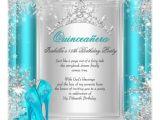 Aqua Quinceanera Invitations Quinceanera 15th Winter Wonderland Teal Aqua Invitation