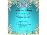 Aqua Quinceanera Invitations Quinceanera Aqua Teal Gold 15th Birthday Party 5×7 Paper