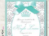 Aqua Quinceanera Invitations Quinceanera Invitations Sweet 16 Sweet 15 Invitation Aqua