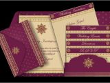 Arabic Style Wedding Invitations Pocket Style Email Indian Wedding Invitation Card Design 53