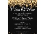 Are Graduation Announcements and Invitations the Same Thing Elegant Graduation Party Gold Lights Card Zazzle Com