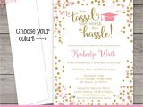 Are Graduation Announcements and Invitations the Same Thing Printed Graduation Invitation Pink and Gold by Partyprintery