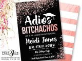 Are Graduation Announcements and Invitations the Same Thing Rose Gold Graduation Invitations Adios Bitchachos Party
