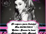 Ariana Grande Birthday Invitations Invitacion Ariana Grande