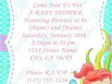 Ariel Baby Shower Invitations Ariel Baby Shower Invitations